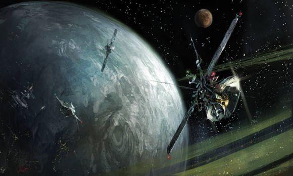 HongWen xaeroaaa deviantart ilustrações fantasia ficção científica Satélite