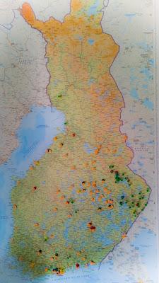 Tsasounat - Suomen kartalla