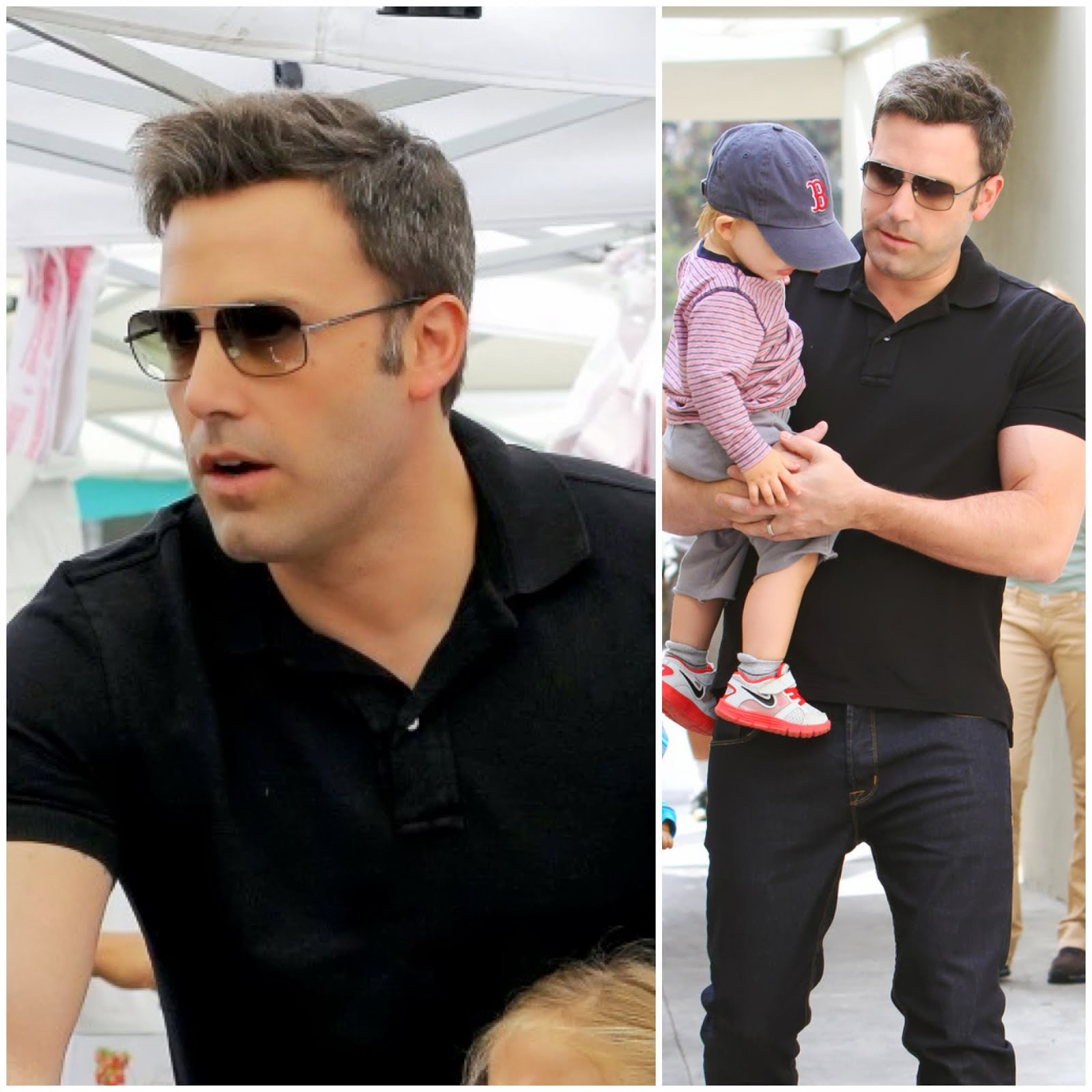 00O00 Menswear Blog http://00O00.blogspot.com Ben Affleck's Dita Baron sunglasses Farmers Market in Pacific Palisades, Los Angeles August 2013