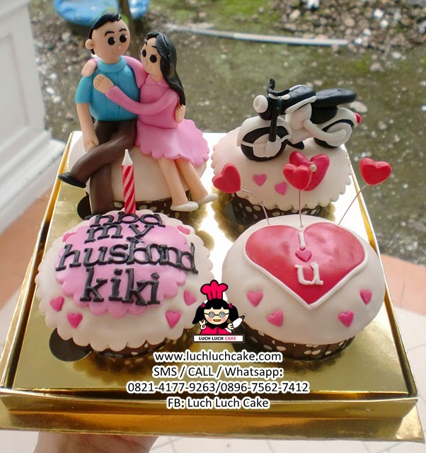 Cupcake Romantis Tema Motor CB Daerah Surabaya - Sidoarjo
