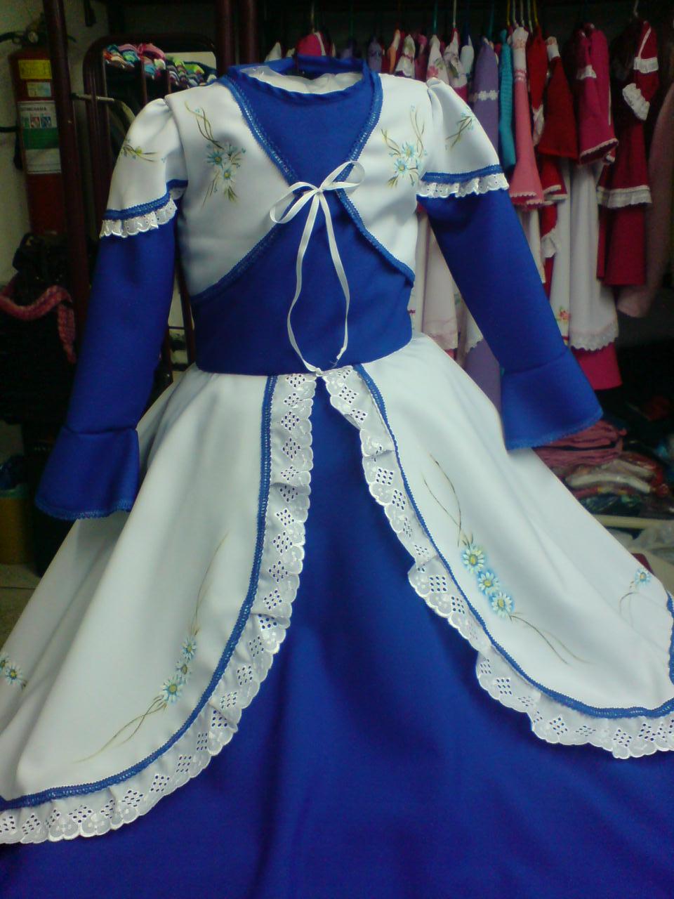 Vestido de prenda infantil azul