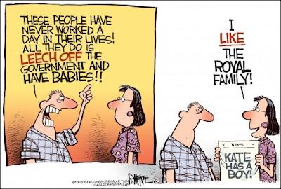 Royal baby cartoon