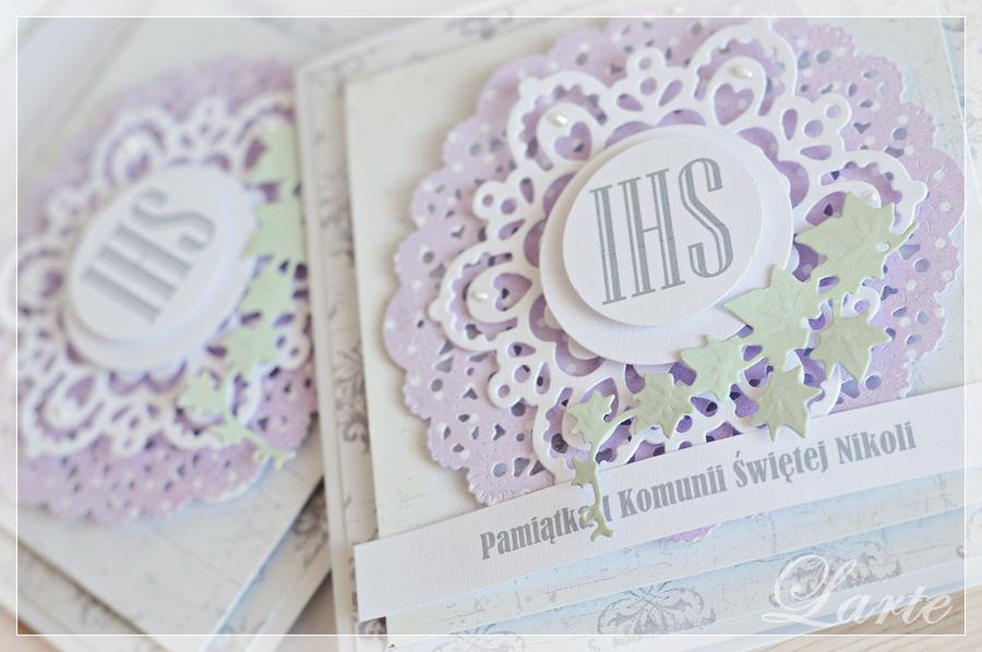 kartka, pamiątka, kartka z okazji komunii świętej, komunia, komunia święta, cardmaking, larte, larteblog