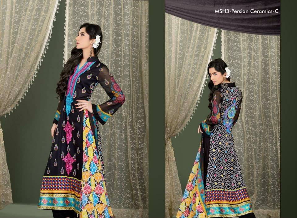 MashaalEmbroideredCollection2014VOL 03ByLalaTextile 9  - Mashaal Embroidered Collection 2014 VOL-3