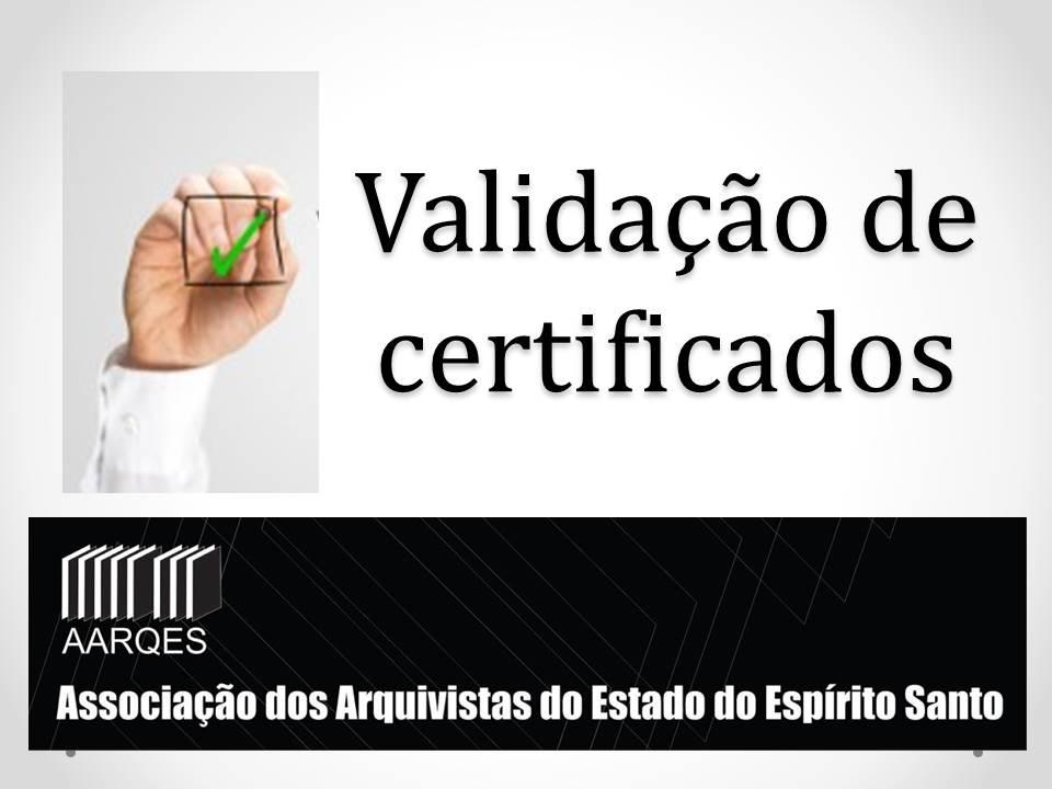 Validação de certificado