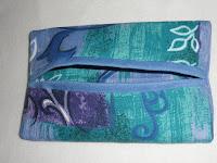 blue, green, tissue, holder