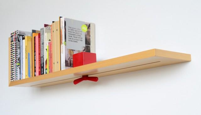 Prateleira para livros com suporte ajustável