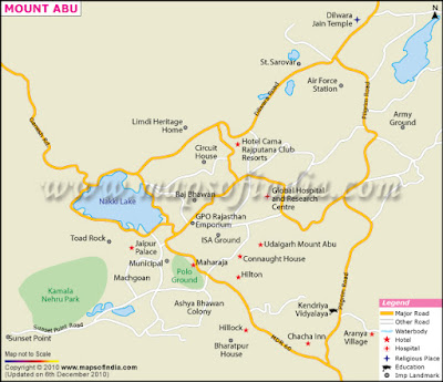 Mount Abi Map