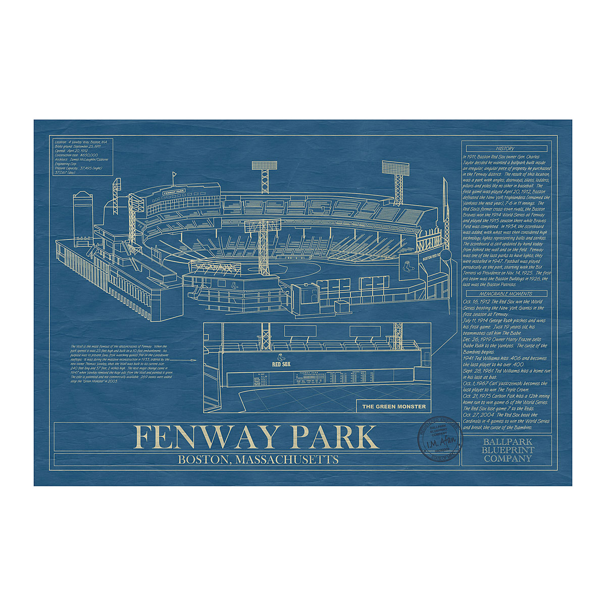 The style ref the fashion authority for work play gameday fan fenway park ballpark blueprint malvernweather Images