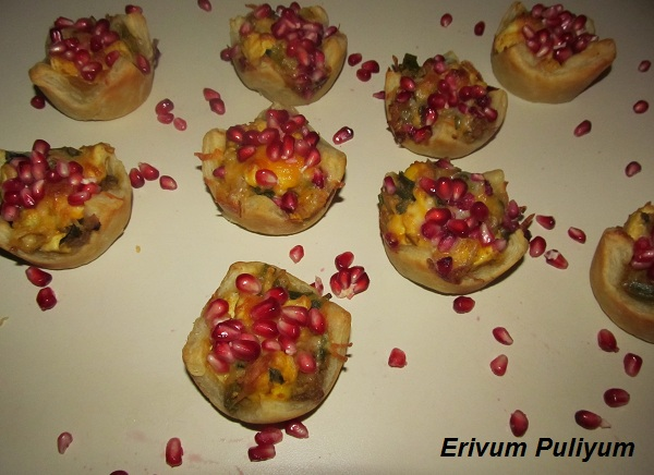 Savory Tarts (Filling with Spring Onion,Egg & POM)