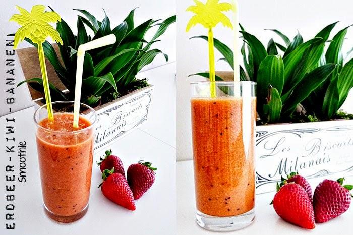Erdbeer-Kiwi Smoothie
