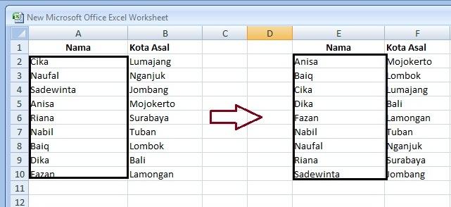 Cara Mengurutkan Data di Excel Berdasarkan Abjad - Panduan