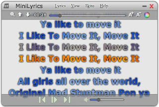 Screenshot Mini Lyrics
