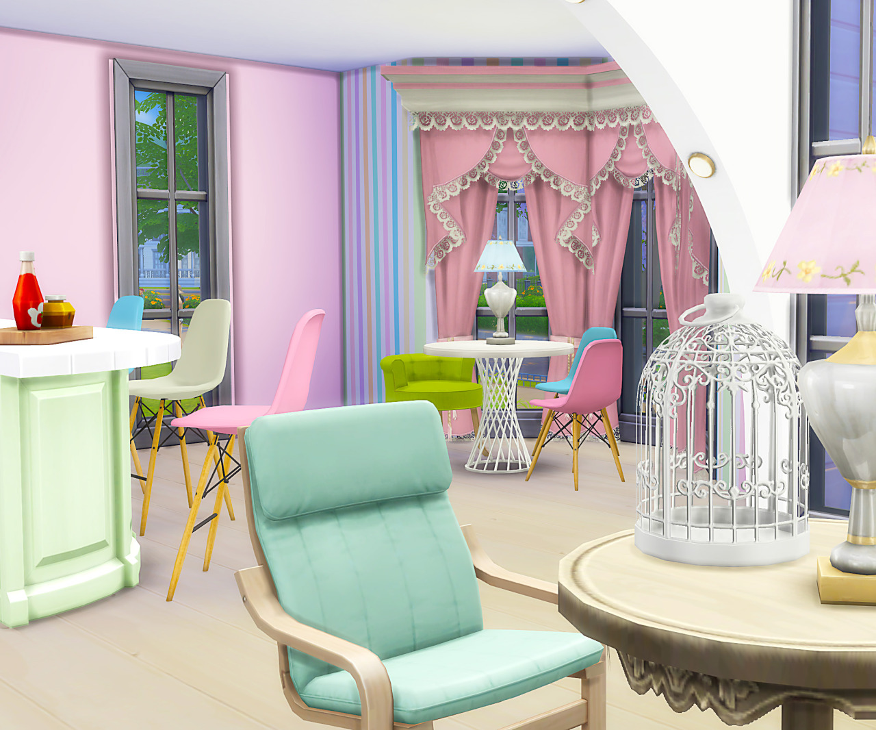 My Sims 4 Blog Pink Spring House Kitchen Recolors