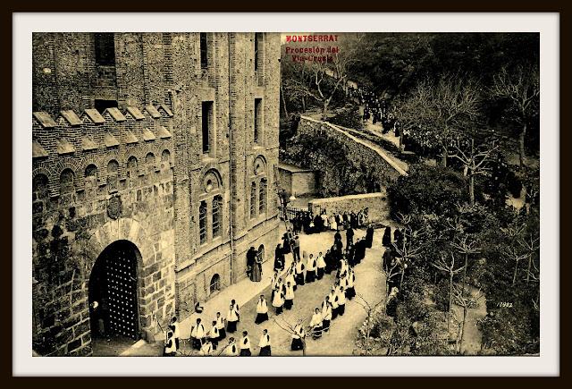 via crucis monasterio montserrat cremallera tren