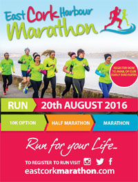 East Cork Harbour Marathon, Half-Marathon & 10k...Sat 20th Aug 2016