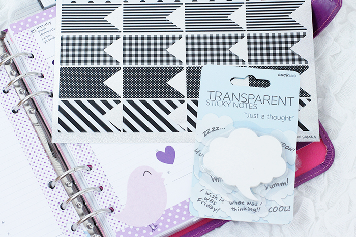 Filofax Haul Stickers and Sticky Notes