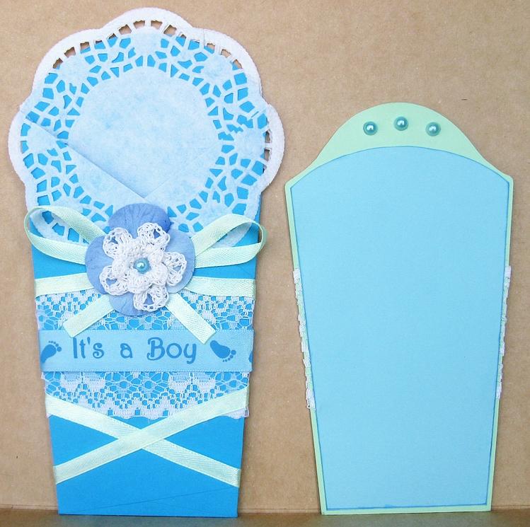 Конверт открытка для новорожденных 43