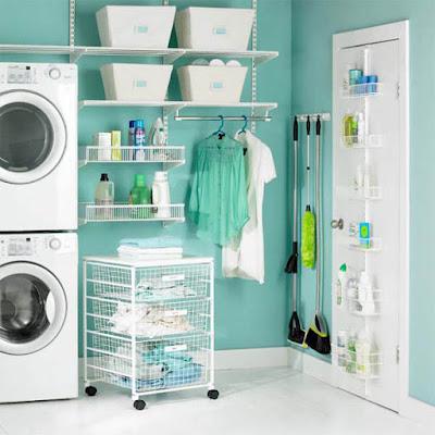 trang trí góc để máy giặt