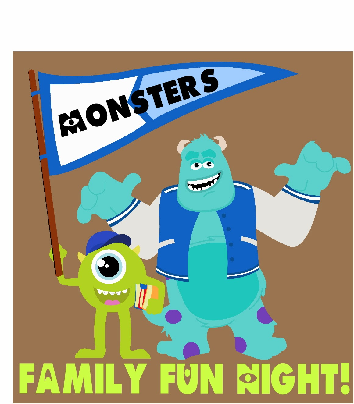 Disney Monsters Inc Family Movie Night