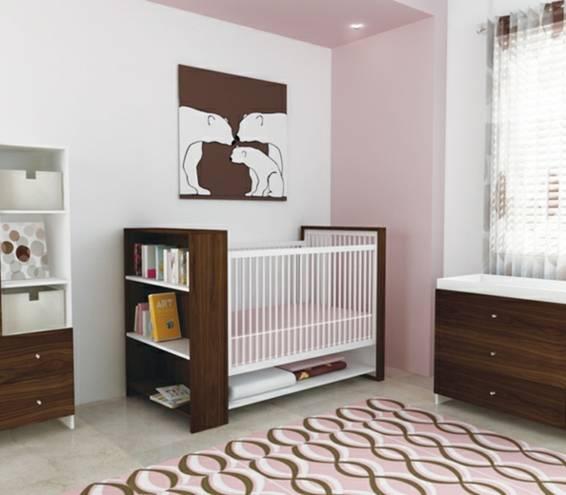 Habitaciones de beb en rosa y marr n dormitorios - Dibujos habitacion bebe ...