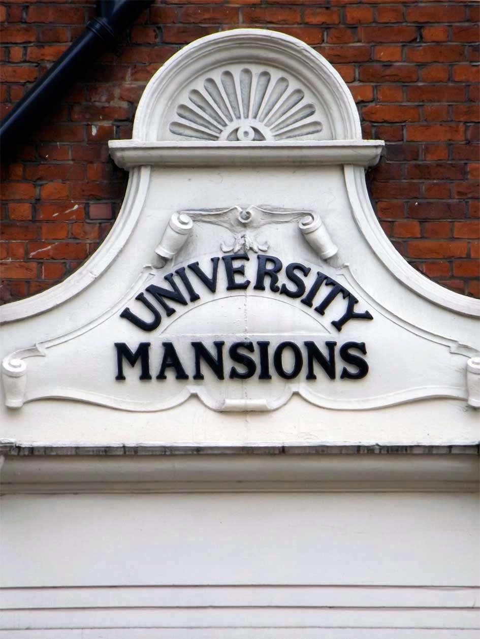 university mansions typography putney