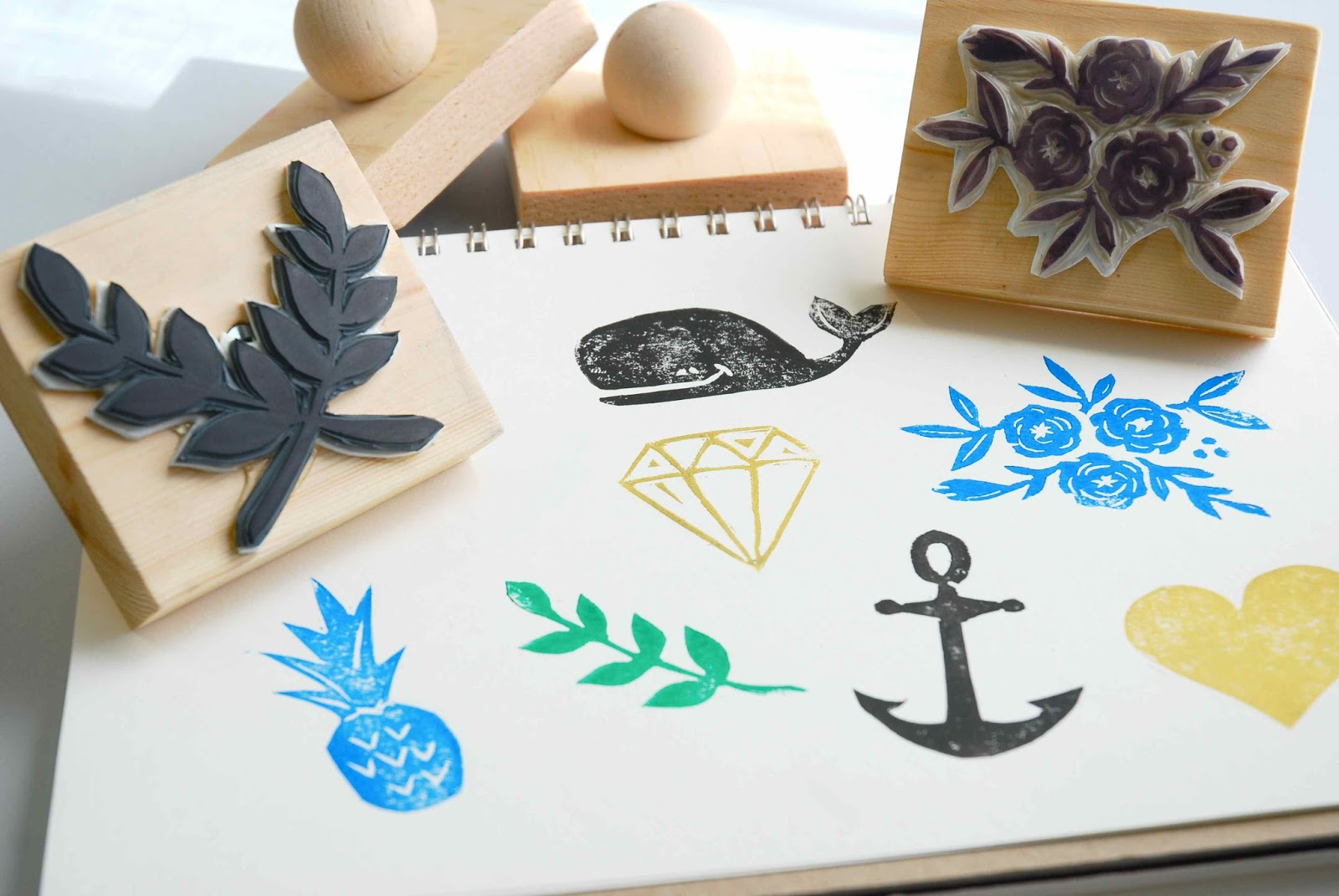 Shayda campbell hand carved stamps