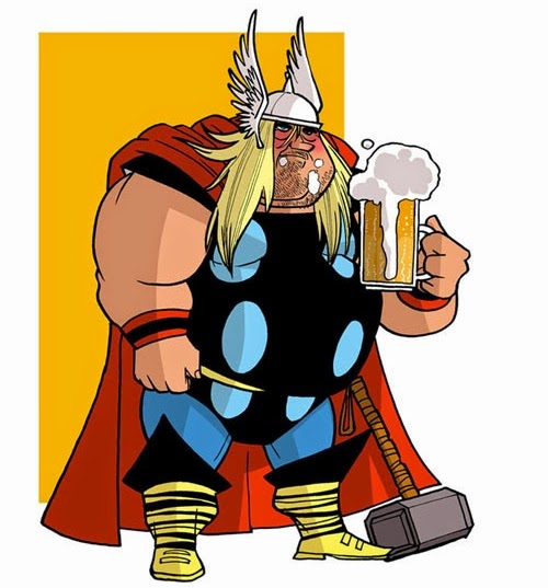 17-Thor-Donald-Soffritti-Cartoon-Cartoonist-Superheroes-in-Old-Age-www-designstack-co
