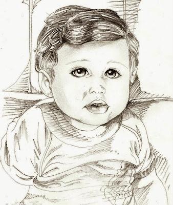 Auto retrato de infância feito a lápis - D3s3nh4nd0