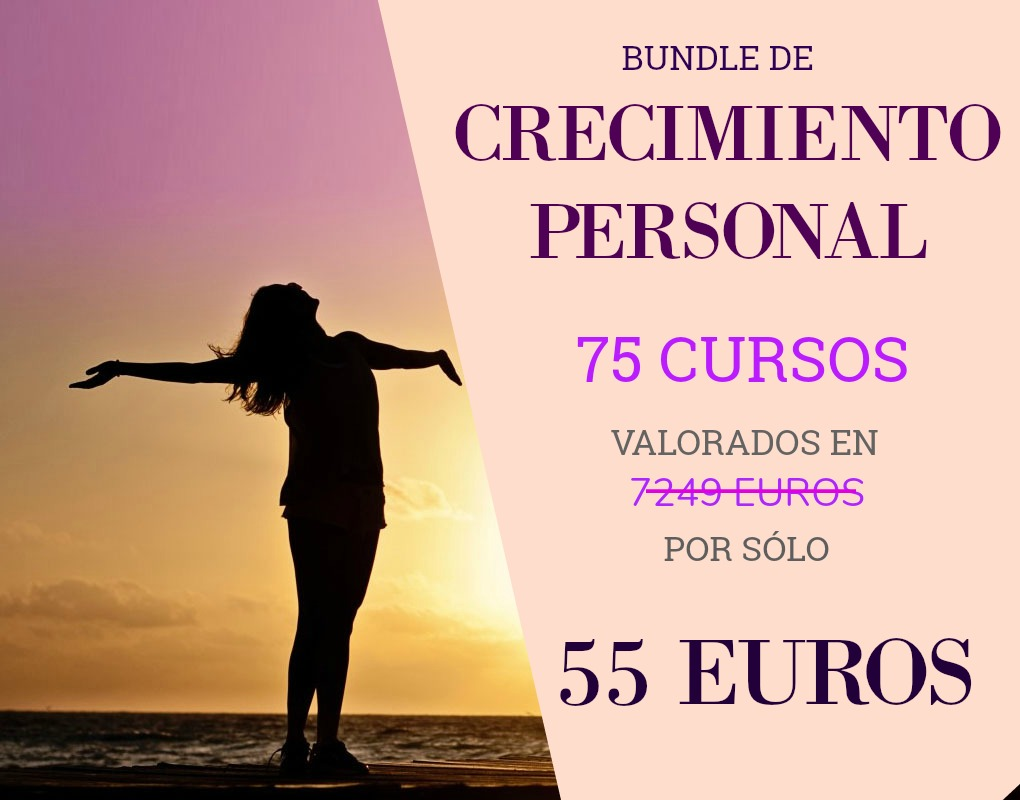 BUNDLE CRECIMIENTO PERSONAL. 75 CURSOS POR SÓLO 55 EUROS