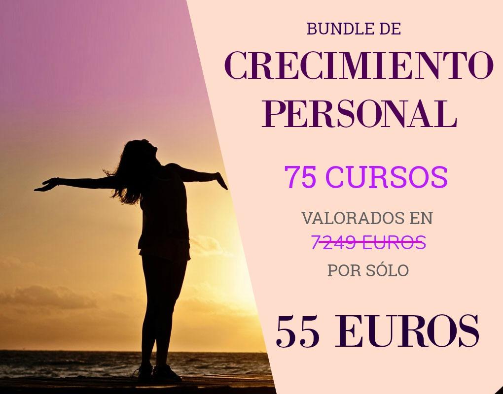 BUNDLE CRECIMIENTO PERSONAL. 75 CURSOS POR SÓLO 55 EUROS
