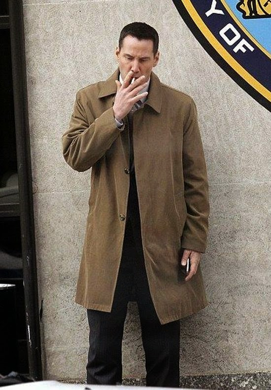 Okay, we don't hate this, but it could be the next James Bond.  And all the work was substitute into habituality, because Keanu Reeves making it to be more masculine with his habit at New York, USA on Sunday, November 30, 2014.