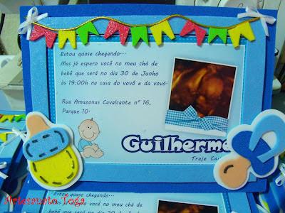 Convite de EVA em tema festa Junina .... pra chegada do Guilherme