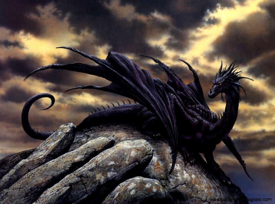 Mobile Source Fantasy Wallpaper Black Dragon Hd Wallpapers Box