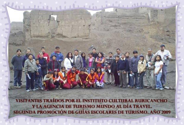 VISITA DE LA EMPRESA DE TURISMO MUNDO AL DÍA TRAVEL Y EL INSTITUTO CULTURAL RURICANCHO. AÑO 2009.