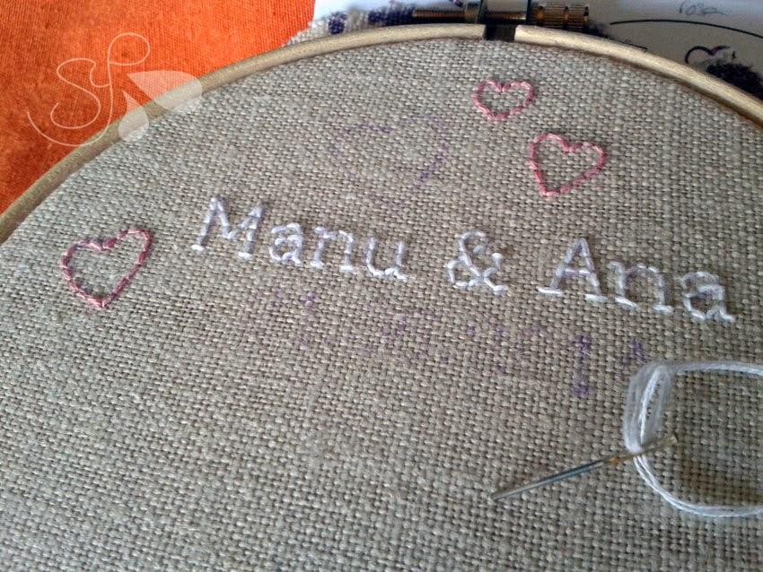 porta alizanzas bordado para boda