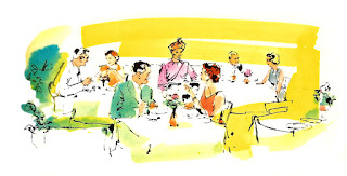 digital restaurant vintage illustration