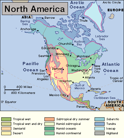 North America Climates