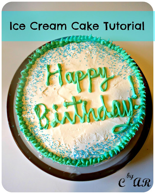 Ice Cream Cake Tutorial Picture