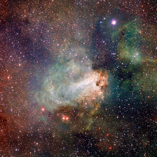 M17, the Omega Nebula, first image from ESO's new VST