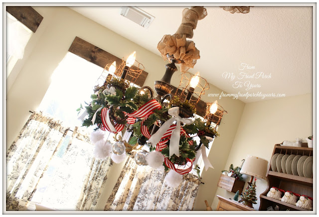 French Farmhouse- French Country- Christmas Chandelier- From My Front Porch To Yours
