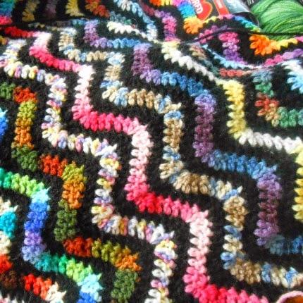 Variegated Variegated Crochet Ripple Afghan - Free Pattern