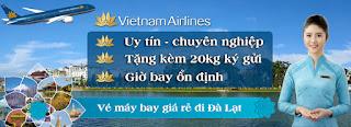 Vé máy bay đi Đà Lạt hãng Vietnam Airlines