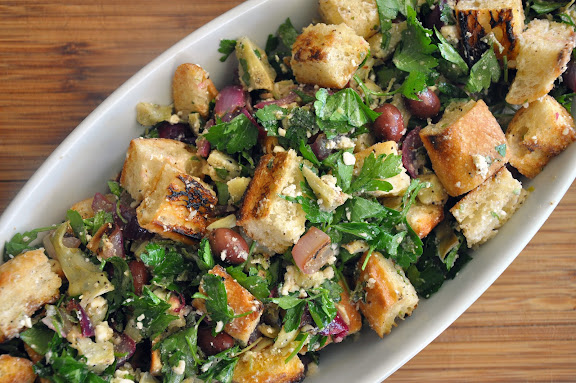 Meatless Monday inspiration: Artichoke feta panzanella salad