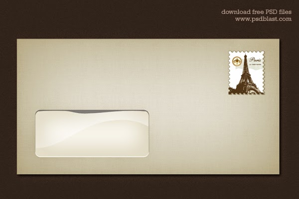 Blank Envelope Template PSD