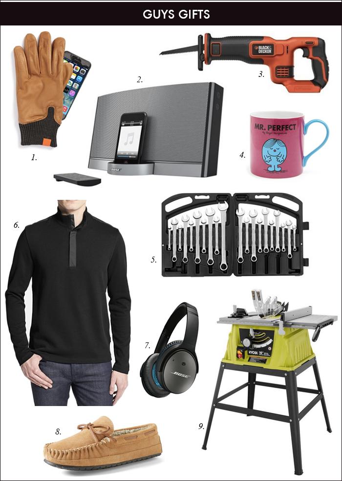 gift ideas for boyfriend, husband, saw, wrench set, quarter zip sweatshirt