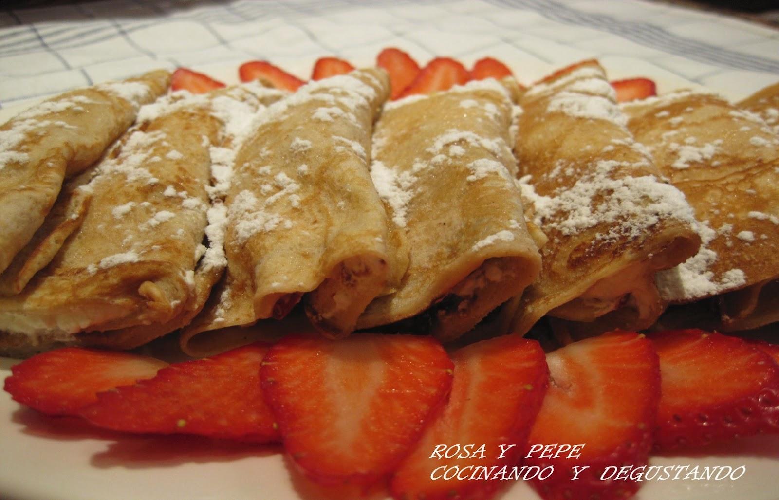 Cocinando y degustando crepes de nata y fresas 32 - Ingredientes para crepes ...
