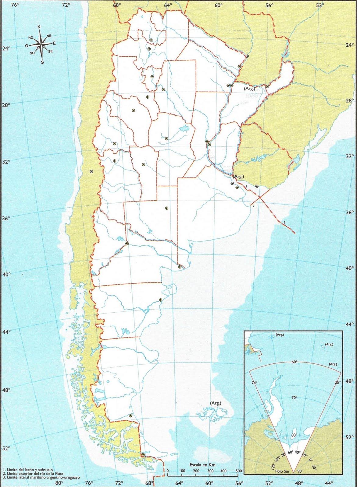 Mapa De Argentina N - Argentina mapa
