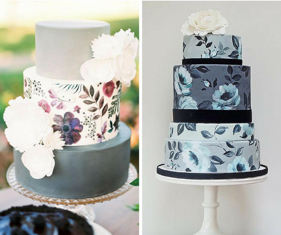 красиви сватбени торти ръчно нарисувани