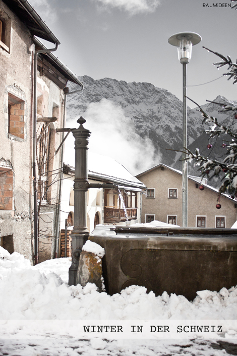 Ein Dorfbrunnen in Tschiln.